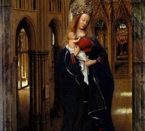 """""""Madonna in der Kirche"""", Jan van Eyck – Beschreibung des Gemäldes"""