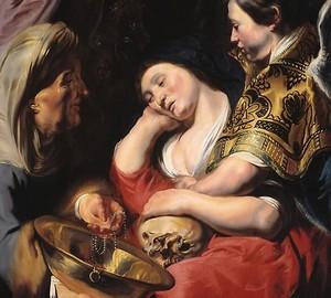 """""""Die Versuchung der Maria Magdalena"""", Jacob Jordaens – Beschreibung des Gemäldes"""