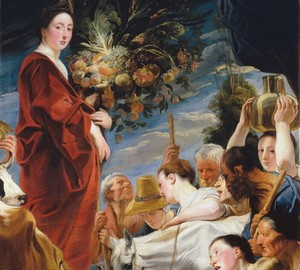 """""""Eine Opfergabe an Ceres, die Göttin der Ernte"""", Jacob Jordaens – Beschreibung des Gemäldes"""