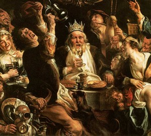 Der trinkende König, Jacob Jordaens – Beschreibung des Gemäldes