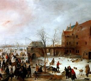 """""""Skaten außerhalb der Stadtmauer"""", Hendrik Averkamp – Beschreibung des Gemäldes"""
