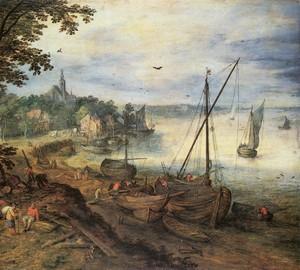"""""""Flusslandschaft mit Holzfällern"""", Jan Brueghel der Ältere – Beschreibung des Gemäldes"""