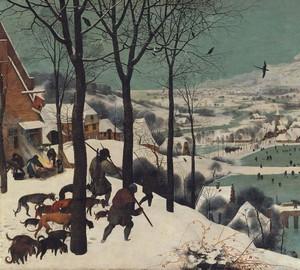 """""""Jäger im Schnee"""", Peter Brueghel der Ältere – Beschreibung des Gemäldes"""