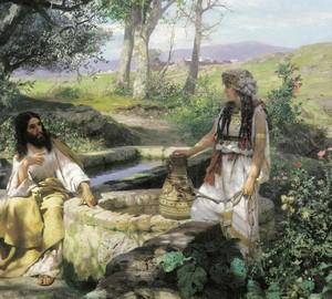"""""""Christus und die Samariterin"""", Semiradsky – Beschreibung des Gemäldes"""