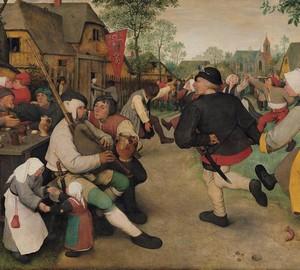 """""""Bauerntanz"""", Peter Brueghel der Ältere – Beschreibung des Gemäldes"""