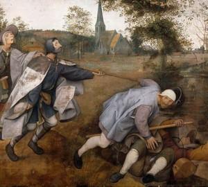 Das Gleichnis vom Blinden oder Blinden, Peter Brueghel der Ältere – Beschreibung