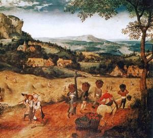 """""""Heuernte"""", Peter Brueghel der Ältere – Beschreibung des Gemäldes"""