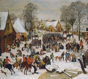 """""""Beating the Babies"""", Peter Brueghel der Ältere – Beschreibung des Gemäldes"""