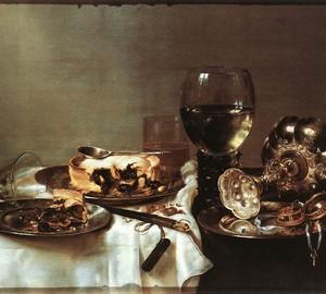 Frühstück mit Blueberry Pie, Willem Clas Head, 1631