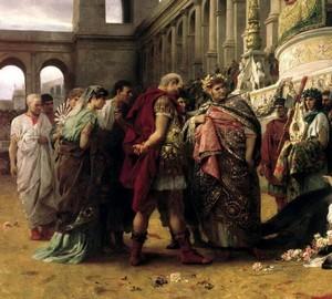 """""""Christian Dircea im Zirkus von Nero"""", Henryk Semiradsky – Beschreibung des Gemäldes"""