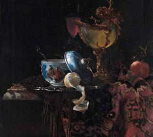 """""""Stillleben mit einem Nautilus und einer chinesischen Schale"""", Willem Kalf – Beschreibung des Gemäldes"""