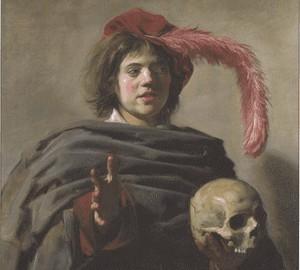 Porträt eines jungen Mannes mit einem Schädel (Vanitas), Frans Hals – Beschreibung
