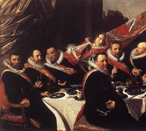 """""""Bankettoffiziere der Firma St. George """", Frans Hals – Beschreibung des Gemäldes"""