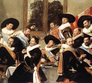 """""""Bankettoffiziere der Firma St. Adriana """", Frans Hals – Beschreibung des Gemäldes"""